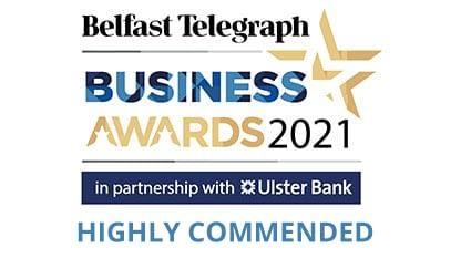 Highly Commended Award for KME at 2021 Belfast Telegraph Business awards